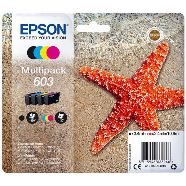 Original Epson 603 Ink Cartridge Multipack (Black/Cyan/Magenta/Yellow)
