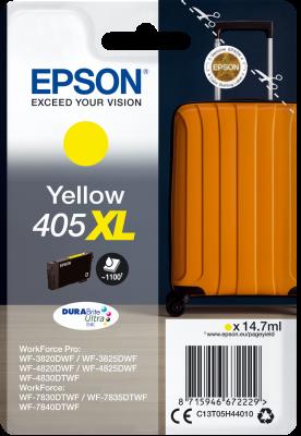 Original Epson 405XL Yellow High Capacity Ink Cartridge C13T05H44010