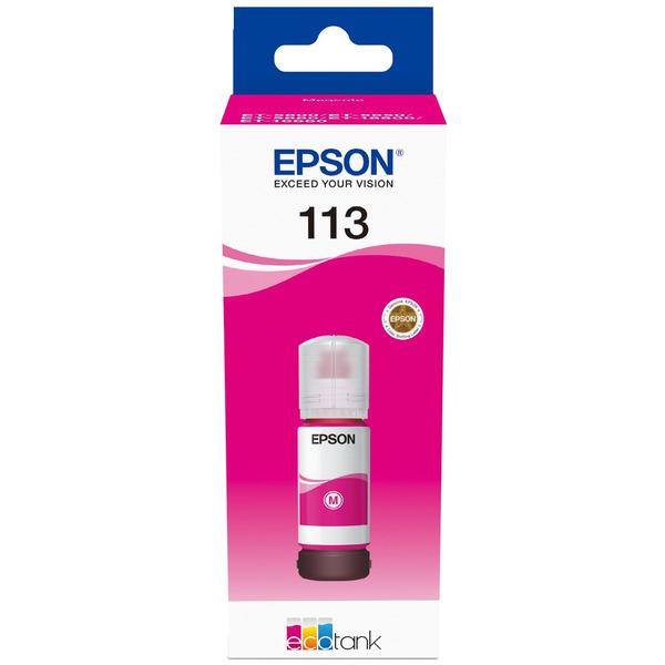 Epson Original 113 Magenta Ink Bottle C13T06B340