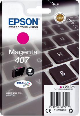 Original Epson 407 Magenta Ink Cartridge C13T07U340
