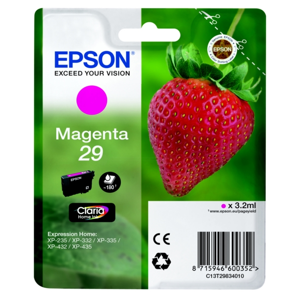 Original Epson 29 Magenta Ink Cartridge (T2983)