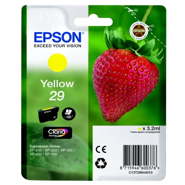 Original Epson 29 Yellow Ink Cartridge (T2984)
