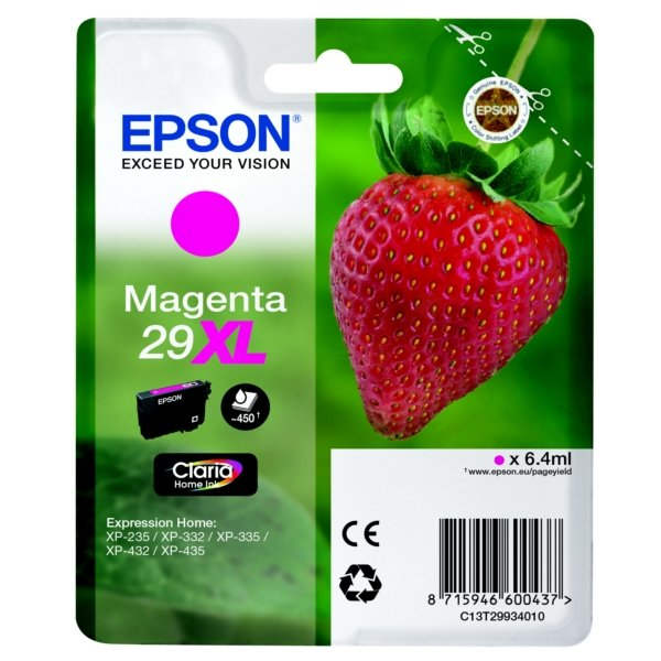 Original Epson 29XL Magenta High Capacity Ink Cartridge (T2993)
