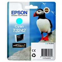 Epson Original T3242 Cyan Inkjet Cartridge - (C13T32424010)