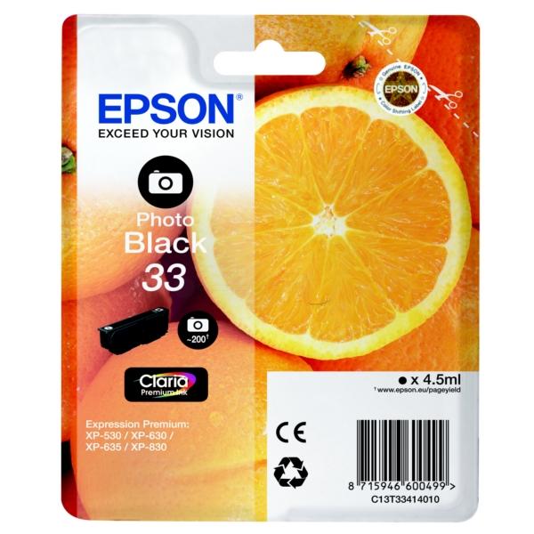 Original Epson 33 Photo Black Ink Cartridge (T3341)
