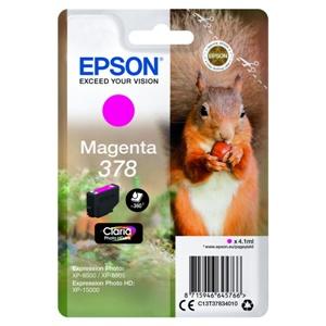 Epson Original 378 Magenta Inkjet Cartridge - (C13T37834010)