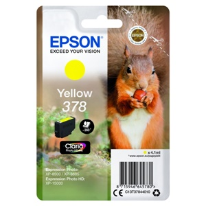 Epson Original 378 Yellow Inkjet Cartridge - (C13T37844010)