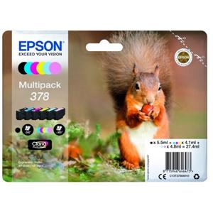 Epson Original 378 6 Colour Inkjet Cartridge Multipack - (C13T37884010)