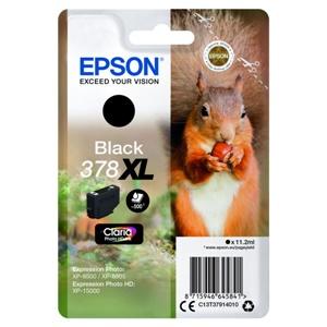 Epson Original 378XL Black High Capacity Inkjet Cartridge - (C13T37914010)