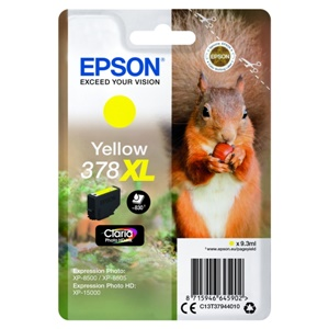 Epson Original 378XL Yellow High Capacity Inkjet Cartridge - (C13T37944010)