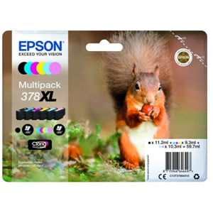 Epson Original 378XL 6 Colour High Capacity Inkjet Cartridge Multipack - (C13T37984010)