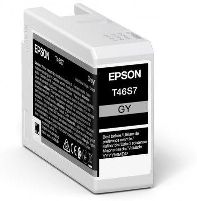 Epson Original T46S7 Grey Inkjet Cartridge C13T46S700
