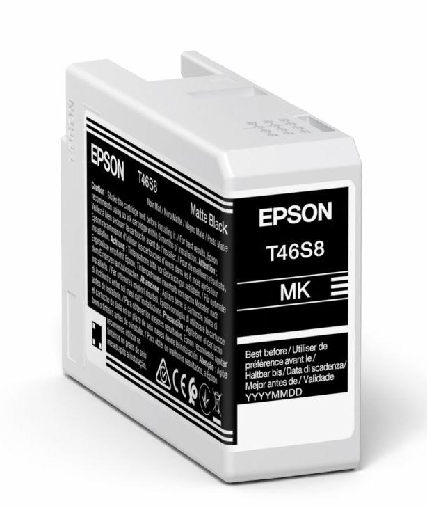Epson Original T46S8 Matte Black Inkjet Cartridge C13T46S800