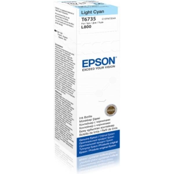Epson Original T6735 Light Cyan Ink Bottle C13T67354A