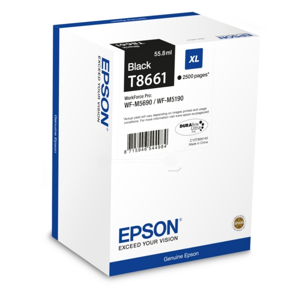 Original Epson T8661 Black Ink Cartridge