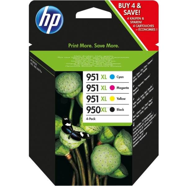 Original HP 950XL/951XL Combo Pack - Black/Cyan/Magenta/Yellow, 4-pack