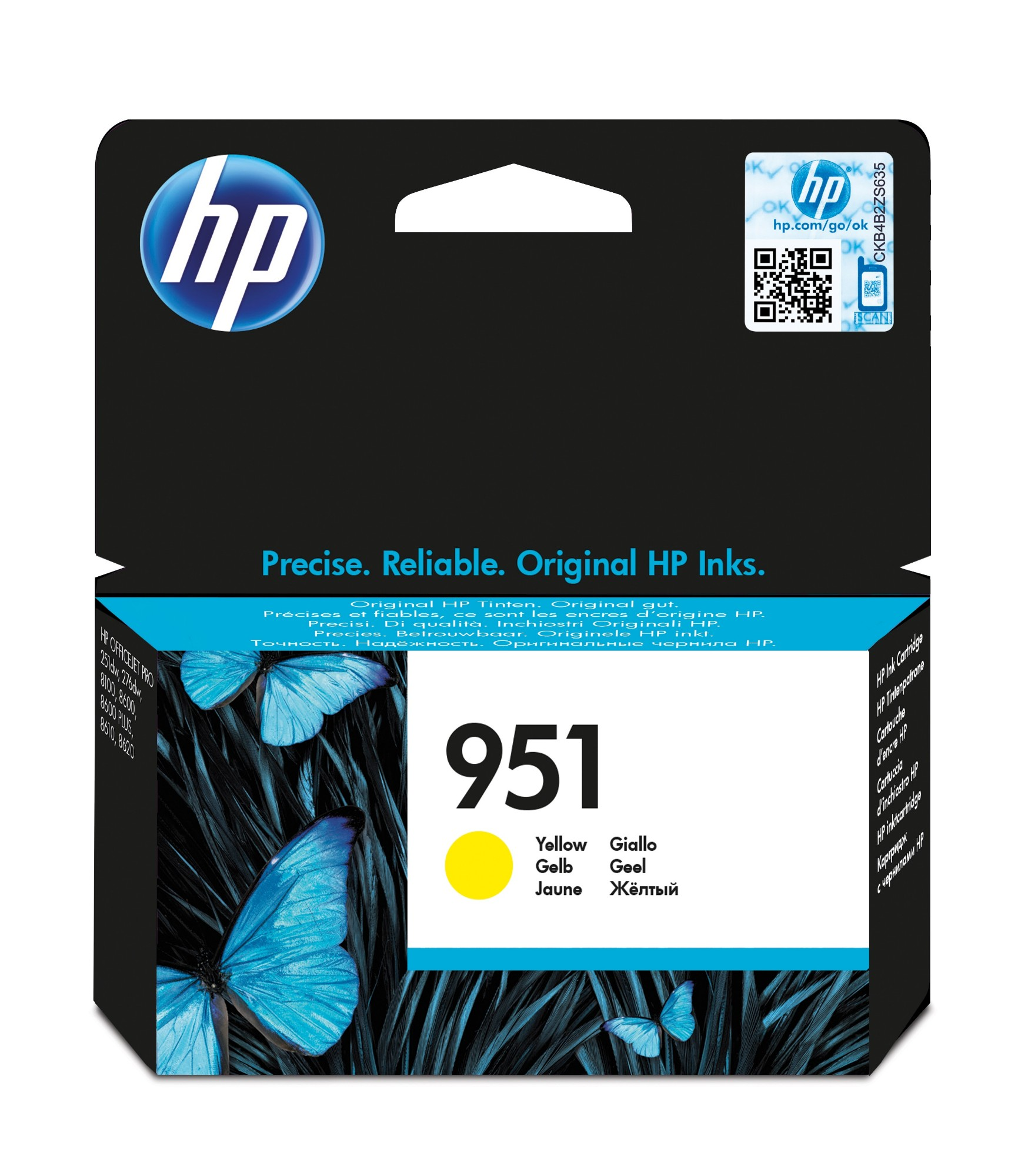 Original HP 951 Yellow Ink Cartridge CN052AE
