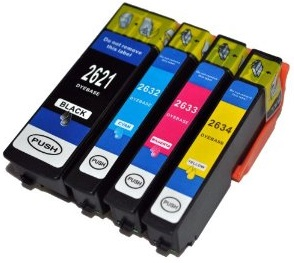 Compatible Epson 26XL a Set of 4 Ink cartridges High Capacity (Black/Cyan/Magenta/Yellow)