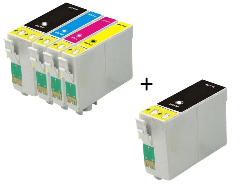 Compatible Epson 35XL a Set of 4 Ink Cartridges High Capacity T3591/T3592/T3593/T3594 + EXTRA BLACK