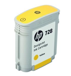 Original HP 728 Yellow Inkjet Cartridge - (F9J61A)