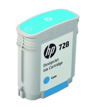 HP Original 728 Cyan Inkjet Cartridge - (F9J63A)