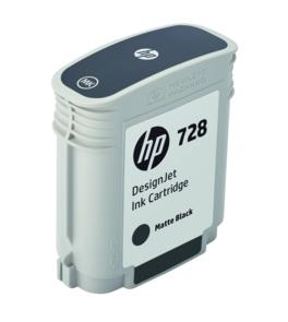 HP Original 728 Matt Black Inkjet Cartridge - (F9J64A)