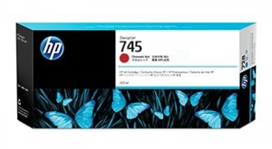 HP Original 745 Red High Capacity Inkjet Cartridge - (F9K06A)