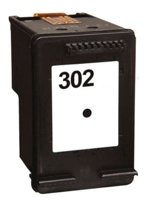 Remanufactured HP 302 Black Ink Cartridge High Capacity (F6U66AE)