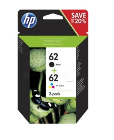 HP Original 62 Black & Colour Ink Cartridge Twin Pack (N9J71AE)