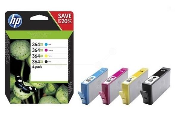 HP Original 364XL Combo Pack of 4 Ink Cartridges (N9J74AE)