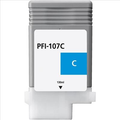 Compatible Canon PFI107C Cyan Ink Cartridge