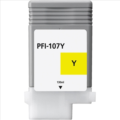 Compatible Canon PFI107Y Yellow Ink Cartridge