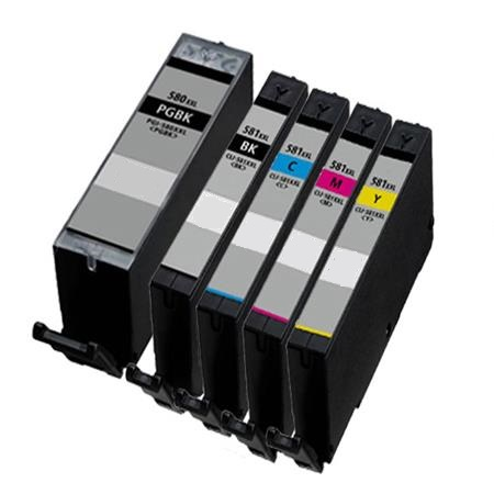 Original Canon CLI-581XL 4 Colour High Capacity Inkjet Cartridge Multipack With Photo Paper - (2052C004)