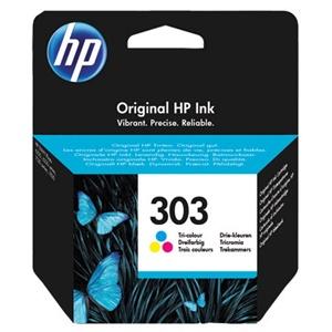 HP Original 303 Tri-Colour Inkjet Cartridge - (T6N01AE)