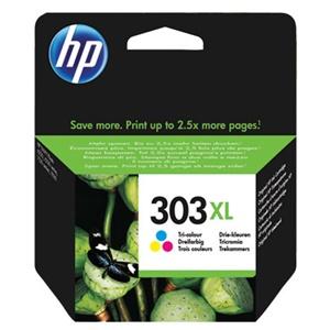 HP Original 303XL Tri-Colour High Capacity Inkjet Cartridge - (T6N03AE)