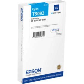 Epson Original T9082 Cyan High Capacity Inkjet Cartridge - (C13T908240)