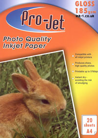 Projet A4 High Glossy Inkjet Paper 185g 20 sheets