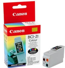 Original Canon BCI-21C Colour Ink Cartridge (0955A002)