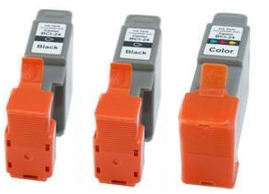Compatible Canon BCI-24BK and BCI-24C Ink cartridges + EXTRA BLACK
