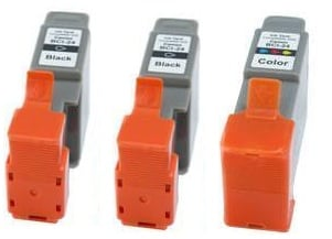 Compatible Canon 2 x BCI-24BK Black and&nbsp, 1 x BCI-24C Colour Ink cartridges + EXTRA BLACK