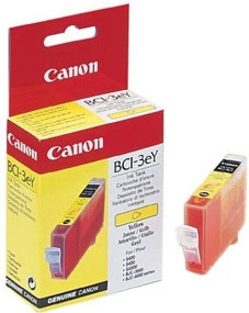 Original Canon BCI-3Y Yellow Ink Cartridge (4482A002)