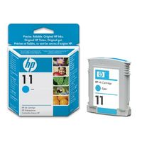 Original HP 11 Cyan Ink Cartridges (C4836AE)