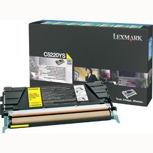 Original Lexmark C5220YS Yellow Toner Cartridge