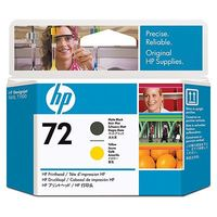 Original HP 72 Matte Black and Yellow Printhead