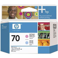 Original HP 70 Light Cyan and Light Magenta Printhead