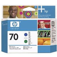 Original HP 70 Blue and Green Printhead