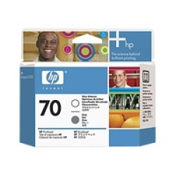 Original HP  70 Gloss Enhancer and Grey Printhead