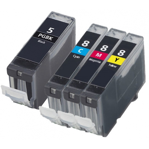 Compatible Canon PGI-5 and CLI-8 CMY a Set of 4 Ink cartridge