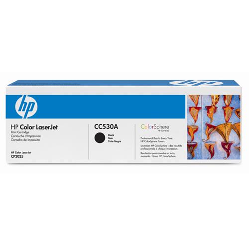 Original HP CC530A Black Toner Cartridge