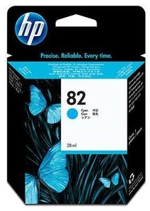 Original HP No.82 Cyan Ink Cartridge (CH566A)